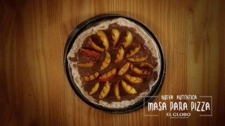 Receta para pizza con crema de avellanas
